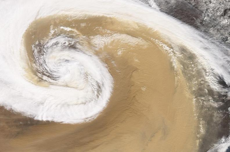 satellite dust storm over china Natures Fury: 30 Chilling Photos of Natural Hazards