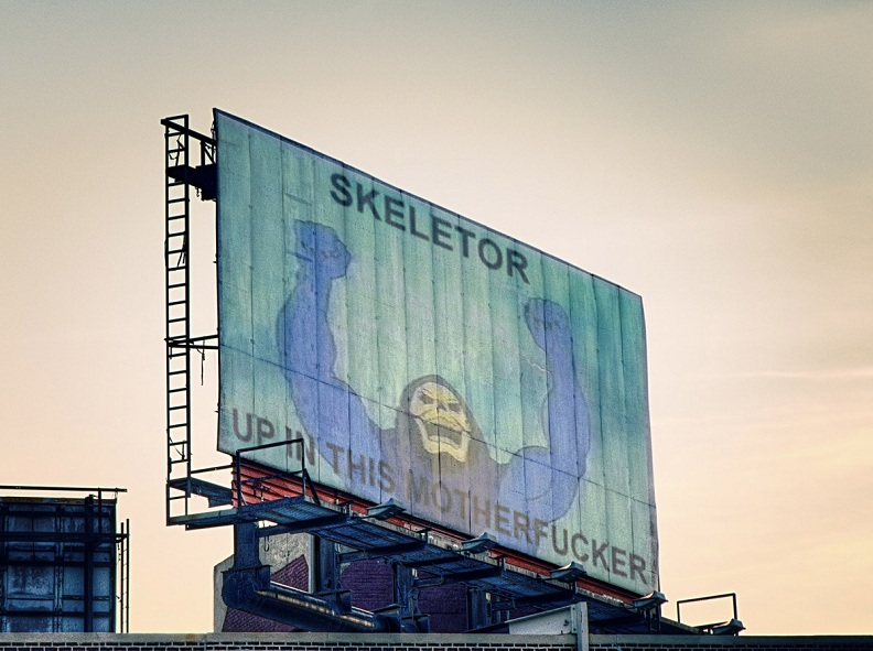 skeletor up in this billboard The Friday Shirk Report   November 19, 2010 | Volume 84