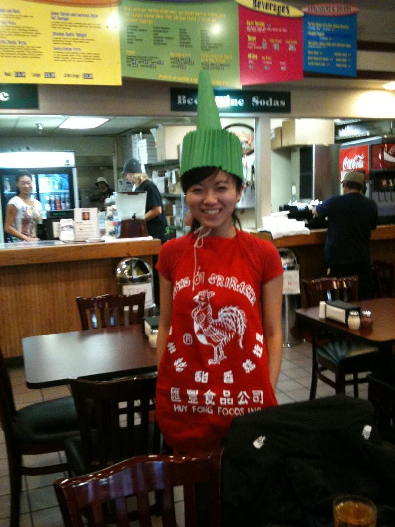 sriracha hot sauce funny halloween costume 25 Hilarious Halloween Costumes