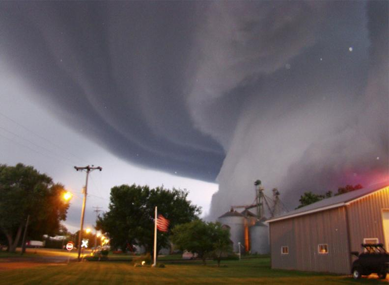 tornado funnel cloud iowa Natures Fury: 30 Chilling Photos of Natural Hazards
