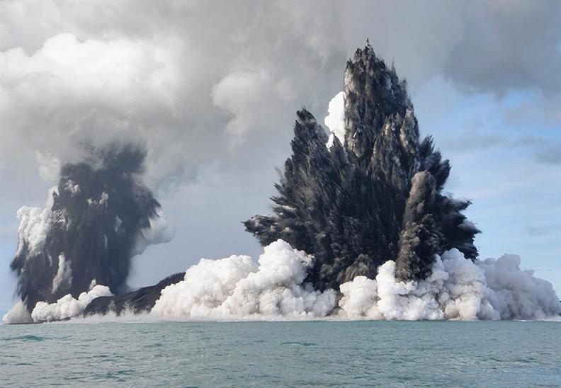 undersea volcano tonga 2 Natures Fury: 30 Chilling Photos of Natural Hazards