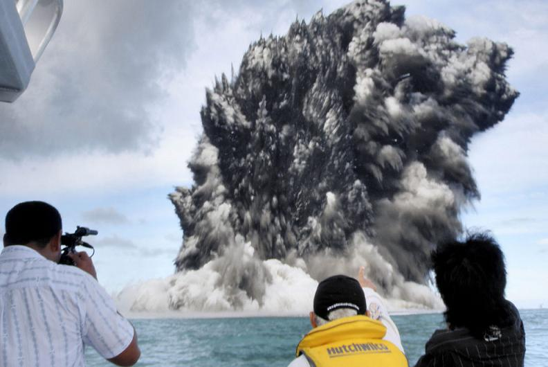 undersea volcano tonga Natures Fury: 30 Chilling Photos of Natural Hazards