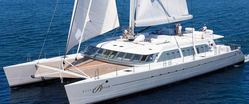 virgin catamaran necker belle 21 The Trimaran Adastra Superyacht by John Shuttleworth [17 pics]