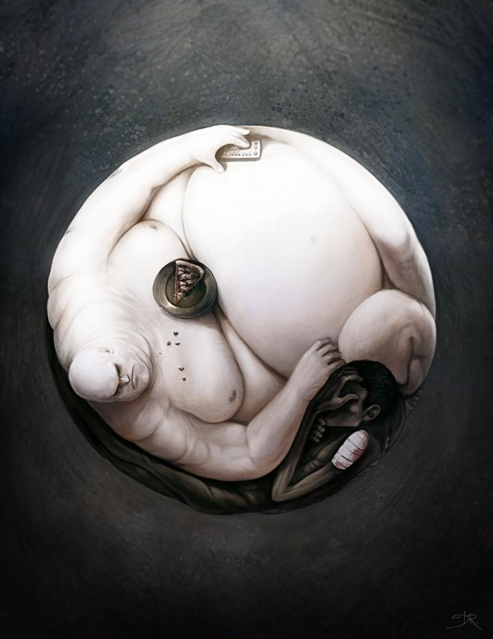 Picture of the Day: The Yin and Yang of Hunger   Nov 13,2010