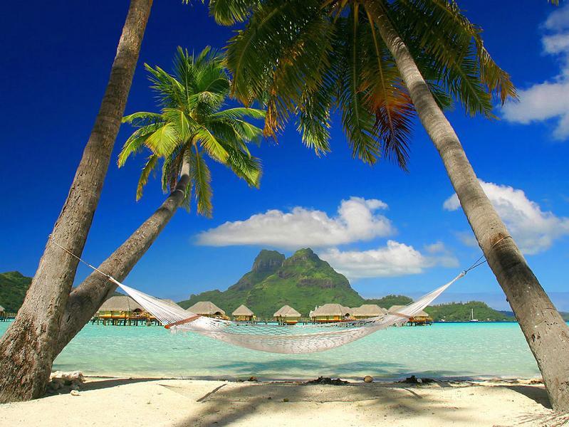 bora bora french polynesia 12 25 Perfect Places for a Hammock