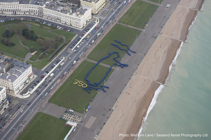 king canute by thom yorke brighton hove uk 350 Earth: Worlds First Art Exhibit Visible from Space