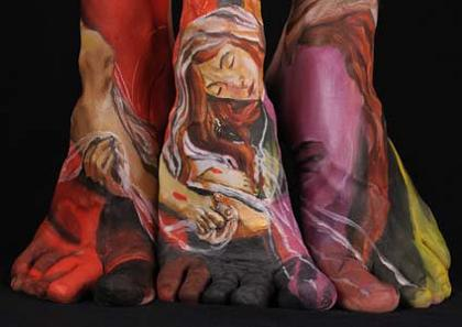 museum anatomy chadwick and spector body painting classic art 18 Museum Anatomy: Body Painting by Chadwick & Spector