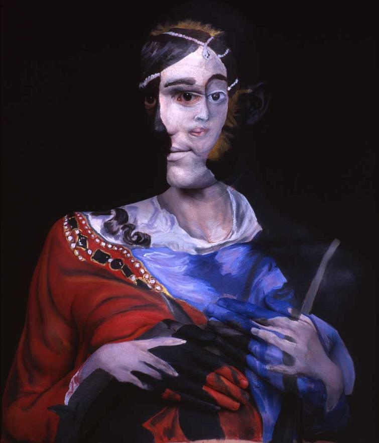 museum anatomy chadwick and spector body painting classic art 23 Trippy 3D Body Paintings by Hikaru Cho