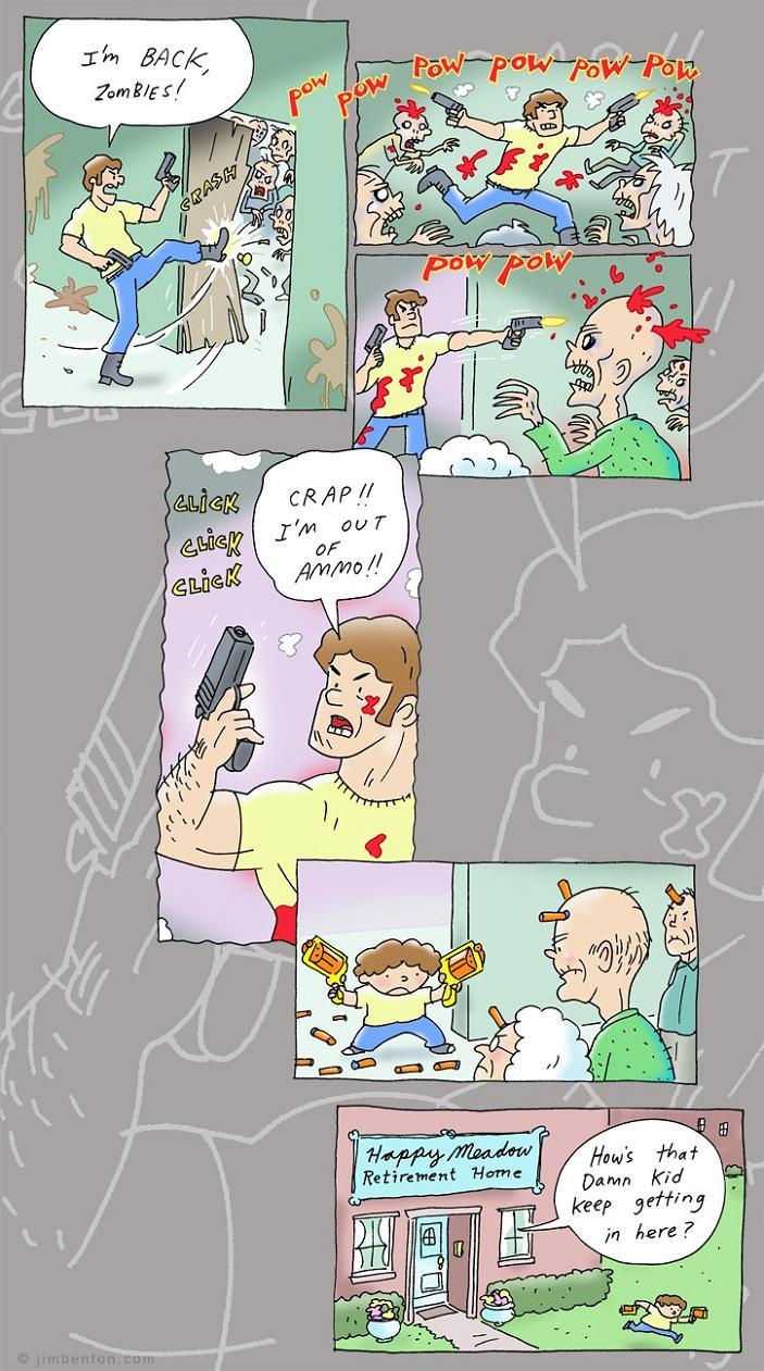 Im Back Zombies Comic Strip Twistedsifter