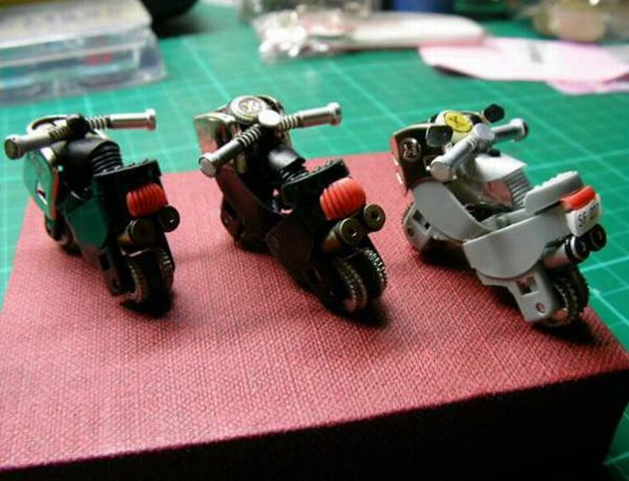 miniature motorcycle models made from lighters How to Turn a Lighter Into a Mini Motorcycle