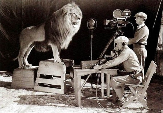 Picture of the Day: Shooting the MGM Logo, 1924