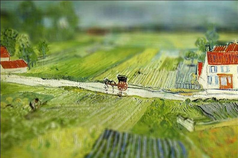 tilt shift van gogh landscape at auvers after the rain painting Amazing Tilt Shift Van Gogh Paintings [16 Pics]