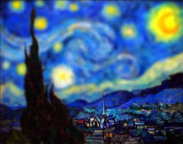 tilt shift van gogh starry night painting Amazing Tilt Shift Van Gogh Paintings [16 Pics]