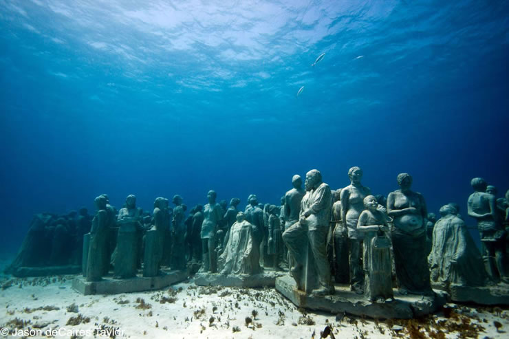underwater sculptures artist jason decaires taylor artificial reefs 10 Astonishing Underwater Sculptures by Jason deCaires Taylor [30 pics]