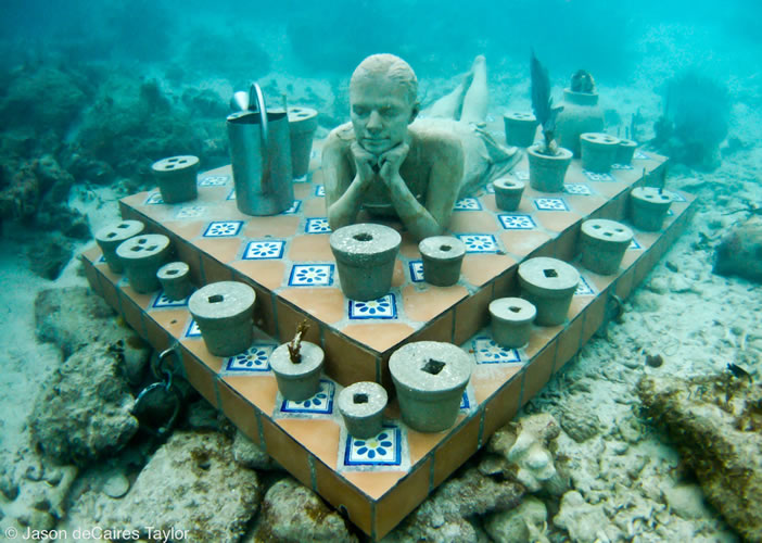 underwater sculptures artist jason decaires taylor artificial reefs 4 Astonishing Underwater Sculptures by Jason deCaires Taylor [30 pics]