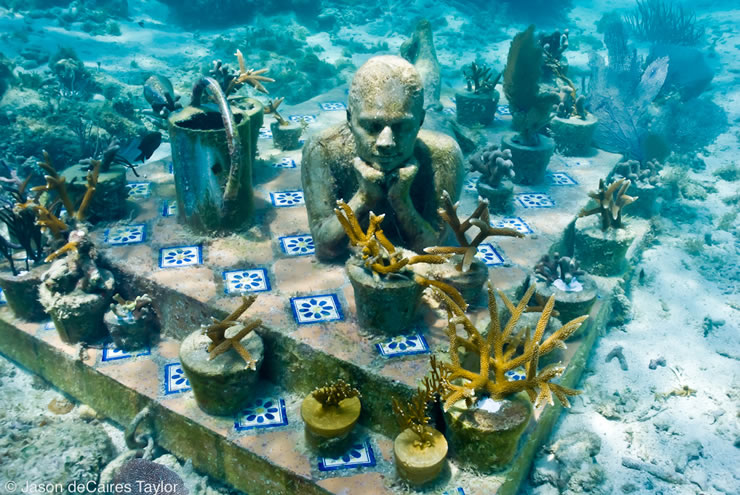 underwater sculptures artist jason decaires taylor artificial reefs 5 Astonishing Underwater Sculptures by Jason deCaires Taylor [30 pics]