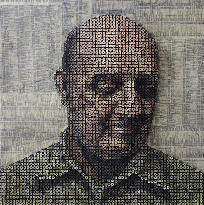 3d protraits using screws andrewy myers sculptures 10 Kinetic San Francisco by Scott Weaver: 35 Years & 100,000 Toothpicks