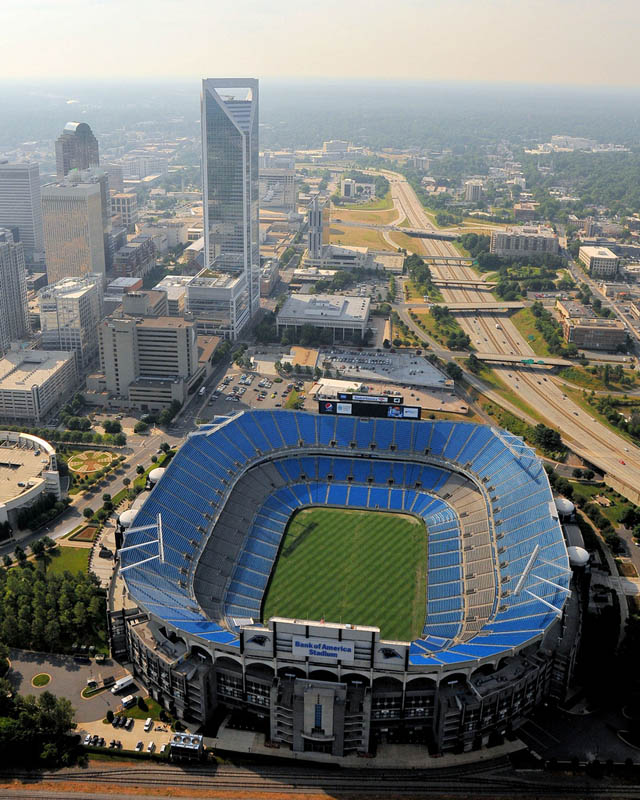 bank of america stadium aerial 25 Incredible Aerial Photos of Stadiums Around the World