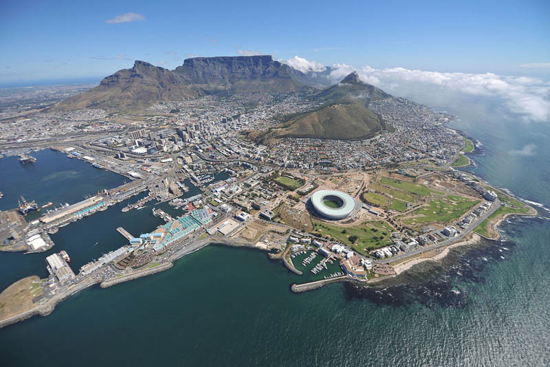 cape town stadium aerial south africa 25 Incredible Aerial Photos of Stadiums Around the World
