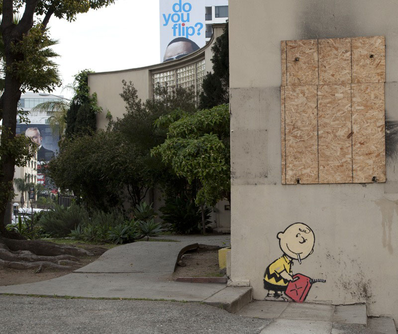 Picture of the Day: Banksy Hits Hollywood