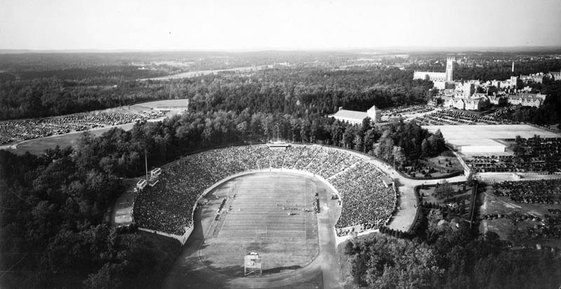 duke stadium black and white 1943 aerial 25 Incredible Aerial Photos of Stadiums Around the World