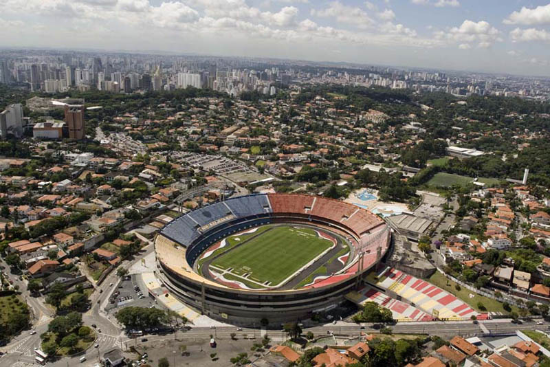 estadio cicero pompeu de toledo aerial sao paulo 25 Incredible Aerial Photos of Stadiums Around the World