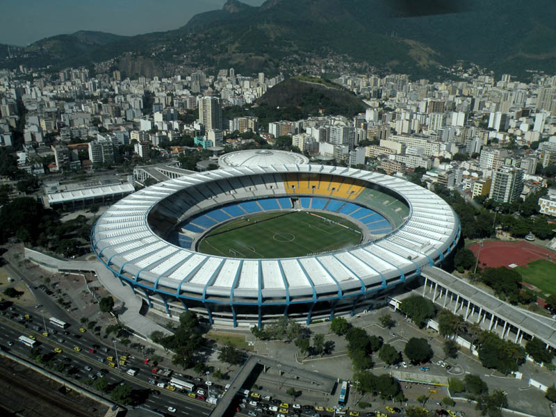 estadio do maracana stadium rio de janeiro aerial brazil 25 Incredible Aerial Photos of Stadiums Around the World