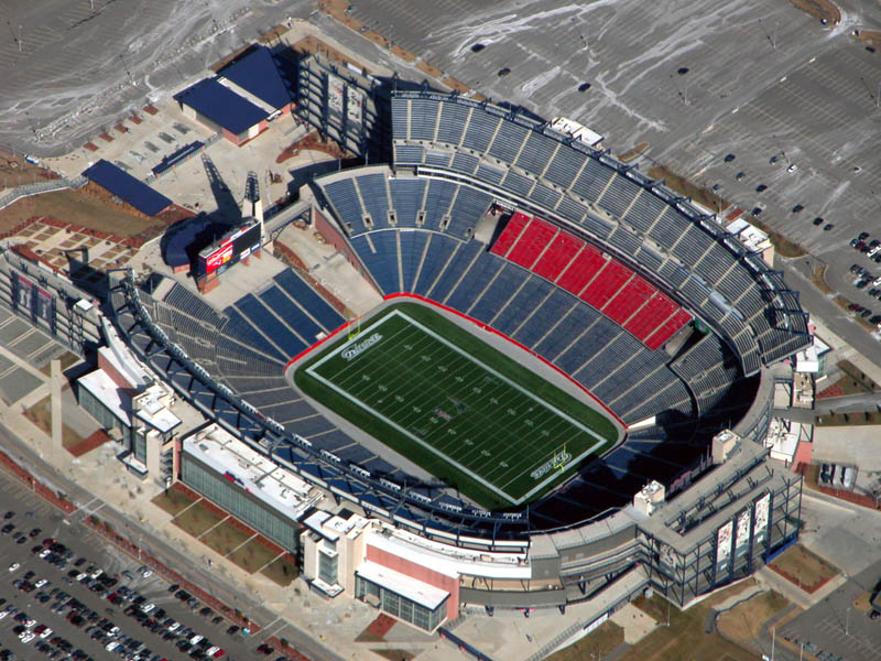 gilette stadium aerial 25 Incredible Aerial Photos of Stadiums Around the World