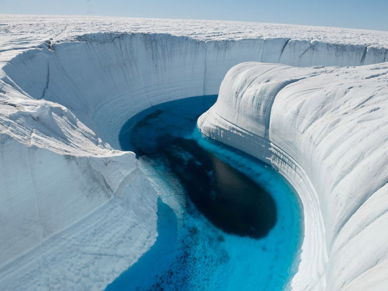 Picture of the Day: Ice Canyon, Greenland