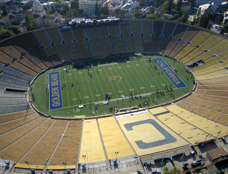memorial stadium california aerial 25 Incredible Aerial Photos of Stadiums Around the World