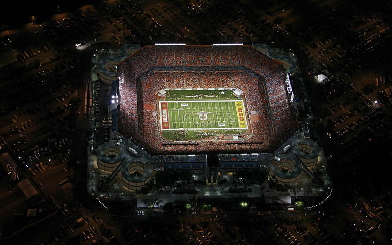 miami dolphins sun life stadium aerial 25 Incredible Aerial Photos of Stadiums Around the World