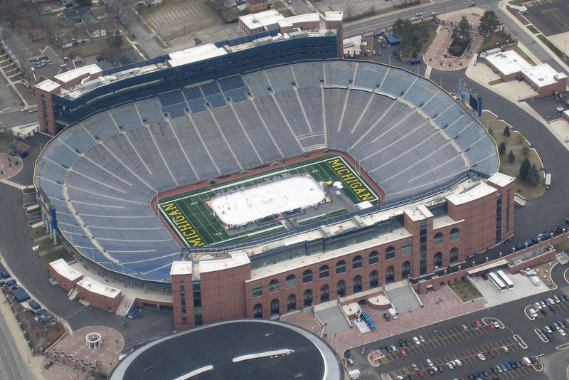 michigan stadium big house aerial 25 Incredible Aerial Photos of Stadiums Around the World