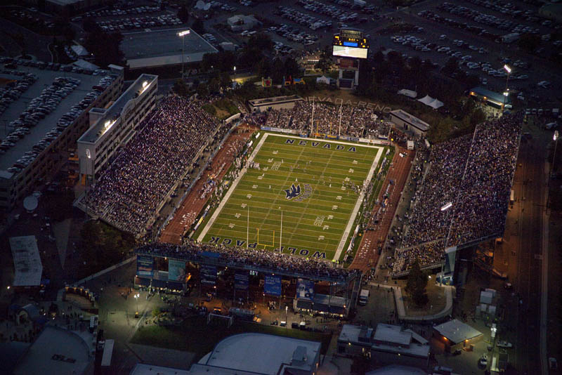 nevada mackay stadium aerial 25 Incredible Aerial Photos of Stadiums Around the World