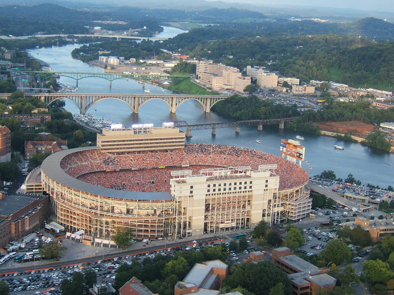 neyland stadium aerial 25 Incredible Aerial Photos of Stadiums Around the World