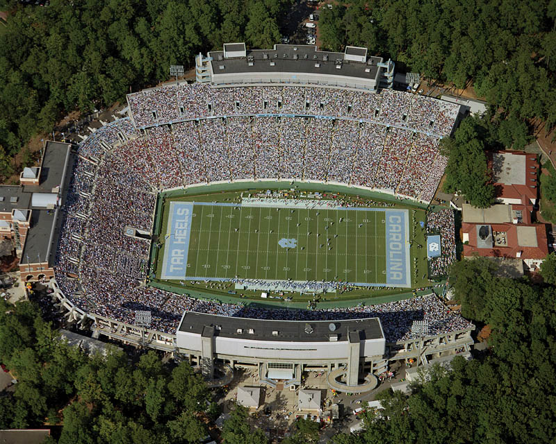 north carolina kenan stadium aerial 25 Incredible Aerial Photos of Stadiums Around the World