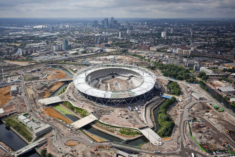 olympic stadium london aerial 25 Incredible Aerial Photos of Stadiums Around the World