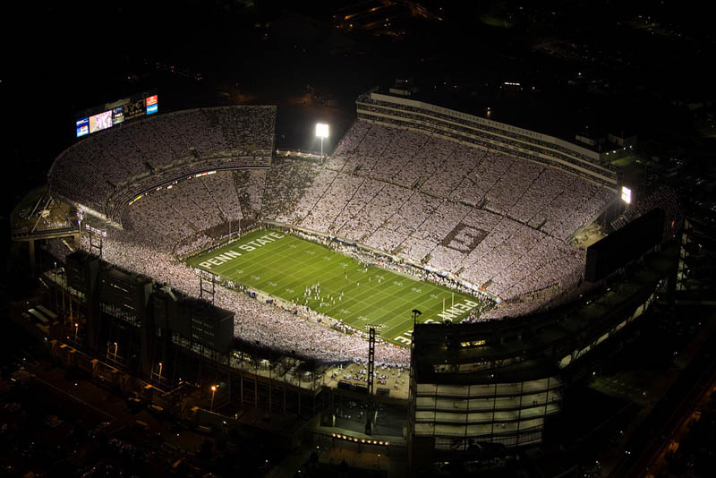 penn state beaver stadium aerial 25 Incredible Aerial Photos of Stadiums Around the World