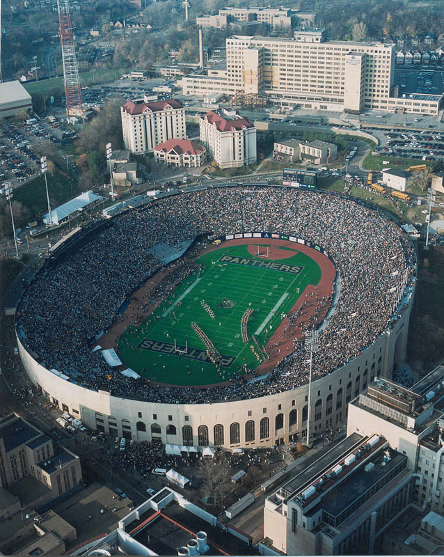 pitt stadium aerial 25 Incredible Aerial Photos of Stadiums Around the World