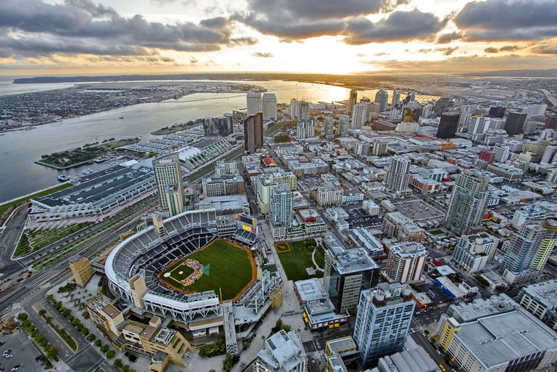 san diego baseball stadium aerial 25 Incredible Aerial Photos of Stadiums Around the World