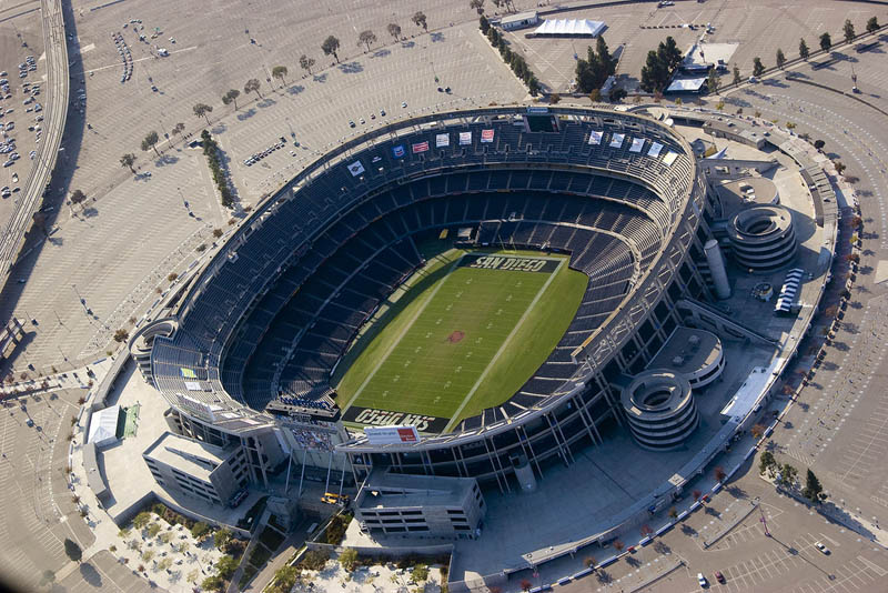 san diego chargers qualcomm stadium aerial 25 Incredible Aerial Photos of Stadiums Around the World
