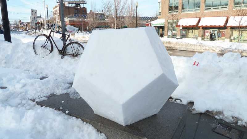Picture of the Day:SNOWDECAHEDRON!