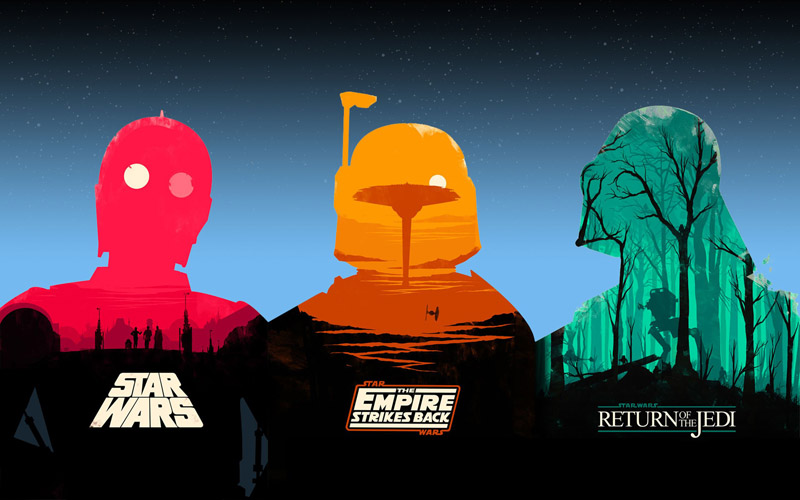 picture of the day star wars trilogy poster redux