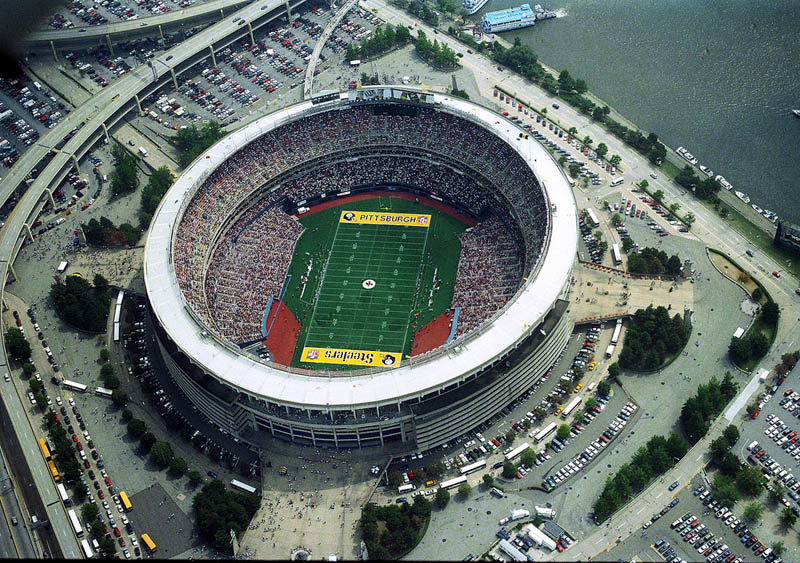 three rivers stadium aerial pittsburgh steelers 25 Incredible Aerial Photos of Stadiums Around the World