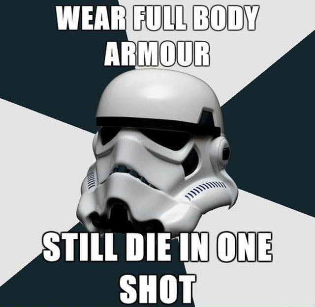 wear full body armour die in one shot The Friday Shirk Report   February 18, 2011 | Volume 97