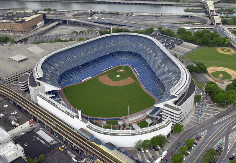 yankee stadium aerial 25 Incredible Aerial Photos of Stadiums Around the World