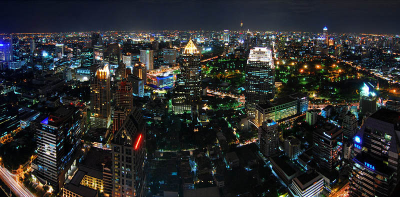 bangkok thailand skyline aerial 25 Stunning Skylines Around the World