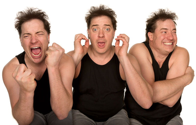 brendan fraser acting in character Funny Faces: Famous Actors Acting Out [20 Pics]