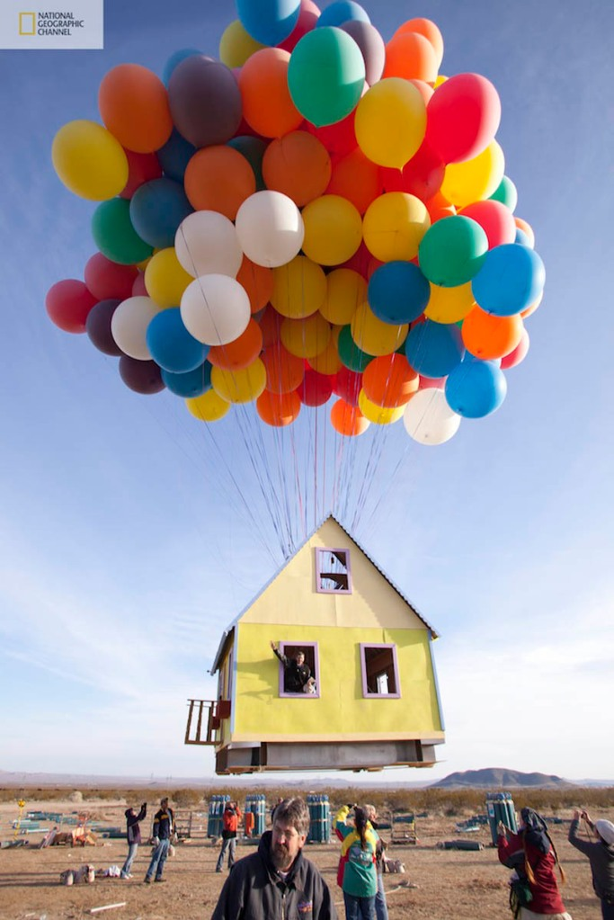 Picture of the Day: Balloon House from UP in RealLife!