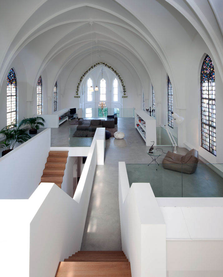 church conversion into residence utrecht the netherlands zecc architects 21 Converting a Church Into a Family Home