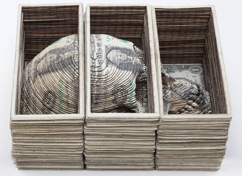 die for the money scott campbell skull dollar bills Picture of the Day: Die for the Money